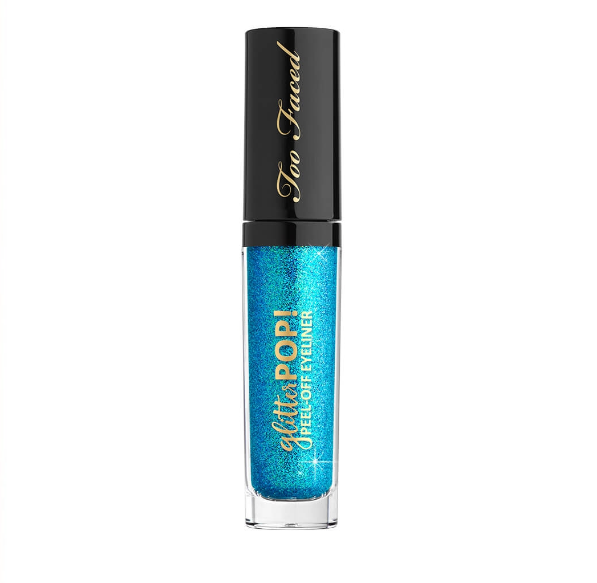CAMGIRL too faced glitter pop! peel off eyeliner camera hot